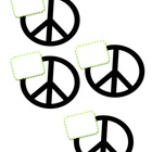 Peace Sign Name Tags