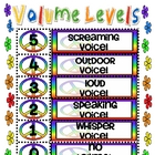 Peace Themed Volume Levels Sign
