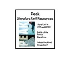 """""""Peak"""", by Roland Smith, Complete Set of Resources on CD!"""