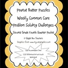 Peanut Butter Math Puzzles-Weekly Problem Solving Challeng