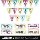 {Editable} Reading Focus Wall