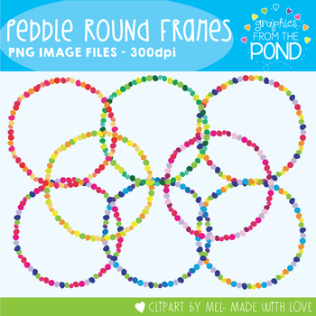 'Pebbles' Round Frames - Graphics From the Pond