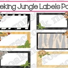 Label Savings Package: Peeking Jungle Animals, 10 per page
