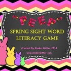 """Peep"" Spring Sight Word Literacy Game"
