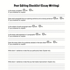 Peer Editing Checklist (Essay writing)