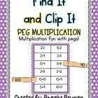 Peg Multiplication - Multiplication Fun with Clothes pegs