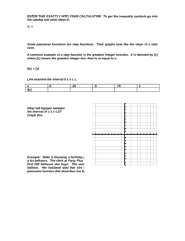 Peicewise Functions Guided Notes