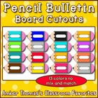 Pencil Bulletin Board Cutouts