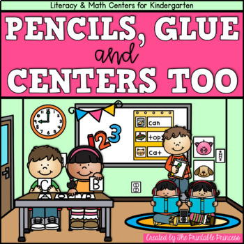 Pencils, Glue, and Centers Too {Back to School Centers for Kindergarten} CCSS