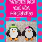 Penguin Boy &amp; Girl Craft