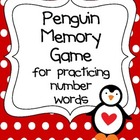 Penguin Memory Game for practicing number words