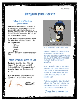 Penguin Publication: Teaching About Text Features