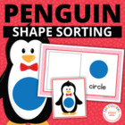 Penguin Shape Sort for Preschool and Early Childhood Learning