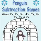 Penguin Subtraction Games - facts minus 1's through minus 9's