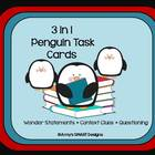 Penguin Task Cards: 3-in-1 Core Skills