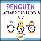 Winter Penguins Letter Sound Matching Cards A-Z