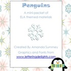 Penguin Themed ELA Materials for Kindergarten/ Early Primary