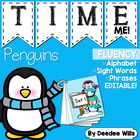 Penguin Time Me!  Fluency Station-editable