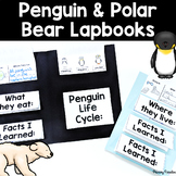 Penguin and Polar Bear Lapbooks {flip book} for Science