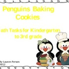 Penguins Baking Cookies Math Tasks