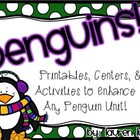 Penguins! ELA and Math Activities