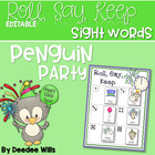 Penguin's Party Happy New Year Roll, Say, Keep-editable
