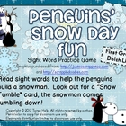Penguins' Snow Day Fun 1st Grade Sight Word Practice Game
