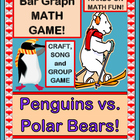 """Penguins vs Polar Bears!"" - Group Game, Craft, and Bar Graph!"