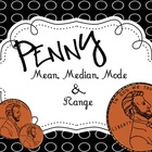 Penny Mean Median Mode Range Data Activity