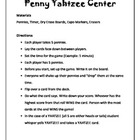 Penny Yahtzee Math Center