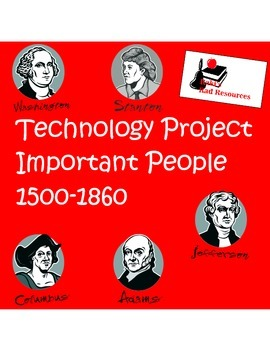 People in American History from 1500 - 1860  Technology Project