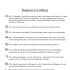 People in U.S. History Starters