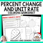 Percent and Unit Rate Holiday Coloring Worksheet