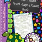 Percent of a Number, Percent Change, Discount Fun Puzzle Activity