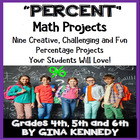 Percent (Percentage) Differentiated Math Project Menu w/ V