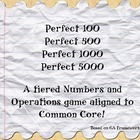 Perfect Common Core Tiered Numbers & Operations Game