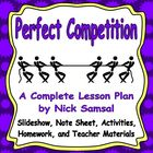 Perfect Competition - Lesson Plan and Activities