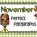 Perfect Paragraphs for November