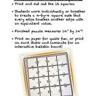 Perfect Squares BIG HUGE PUZZLE - Great Bulletin Board Too!