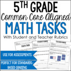 Performance Based Tasks Bundle for 5th Grade Common Core *