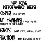 Performance Tasks Poster *What to Include in a Performance Task*