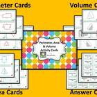 Perimeter, Area & Volume Math Center Cards #1
