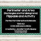 Perimeter &amp; Area of Rectangles &amp; Parallelograms Flippable 