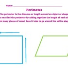 Perimeter Introduction - Cereal Activity 