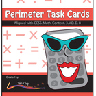 Perimeter Task Cards - Differentiated Math Problems- Align