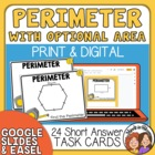 Perimeter Task Cards with Optional Area
