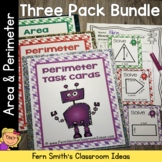 Perimeter and Area Mega Math Pack - Printables, Center Gam