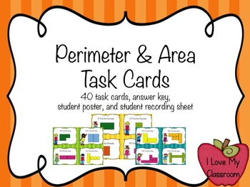 Perimeter and Area Task Cards {Building Bricks}
