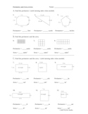 Perimeter and area review math worksheet (geometry / measurement)