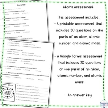 Periodic Table of Elements Assessment